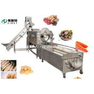 Vegetales Fruta Jengibre Patatas Cepillo Rodillo Pelado Lavado Maquinaria