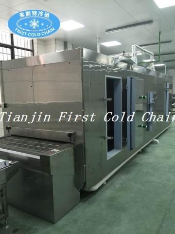 China Congelador rápido rentable del túnel de la correa del acero inoxidable para la comida congelada