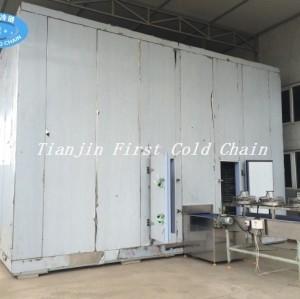 China Congelamiento rápido doble espiral 2000kg / h con correa de material plástico para bakey