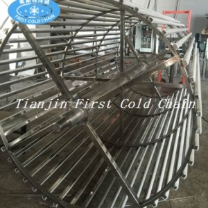 China se vende bien en todo el mundo. Congelador rápido en espiral finamente procesado para carne o pescado.