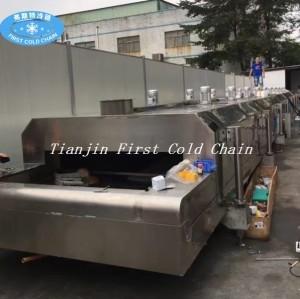 Congelador rápido para hamburguesa Patty Samosa Falafel máquina de congelador de nitrógeno líquido