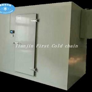 Petite chambre froide avec équipement de réfrigération