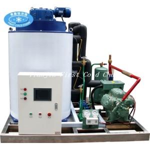 Máquinas de fabricación de hielo en escamas 5000kg / 24 con compresor Bitzer
