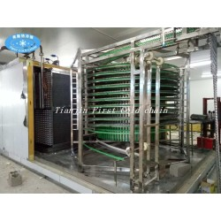 China full automatic Spiral Freezer 500kg/h For Dumplings