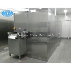 Máquina de congelación rápida de fluidización para el procesamiento de alimentos congelados de frutas y verduras