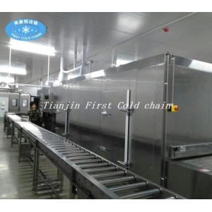 Congelador de túnel de comida de alto rendimiento