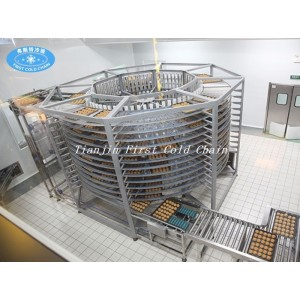 Torre de enfriamiento espiral de cocción de alimentos