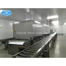 China first cold chain company 100kg/h tunnel freezer for freeze egg Tart