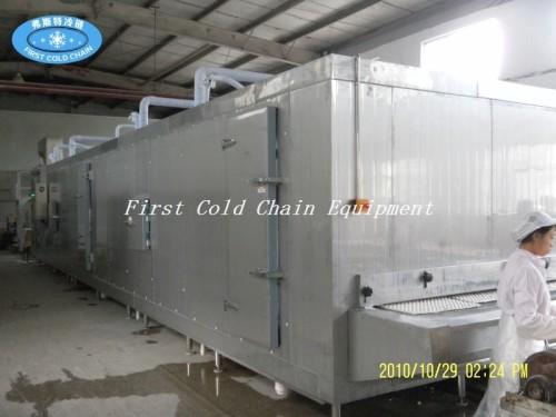 La primera cadena de frío de China suministra directamente congelador de túnel para mariscos congelados
