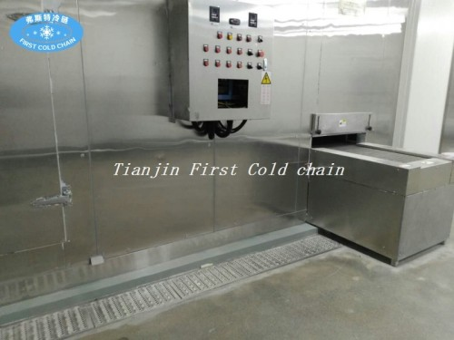 China Cost-effective 1000kg/h Spiral Freezer with stainless steel belt for Frozen Seafood