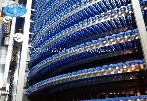Máquina espiral doble finamente procesada del congelador de China para los mariscos congelados