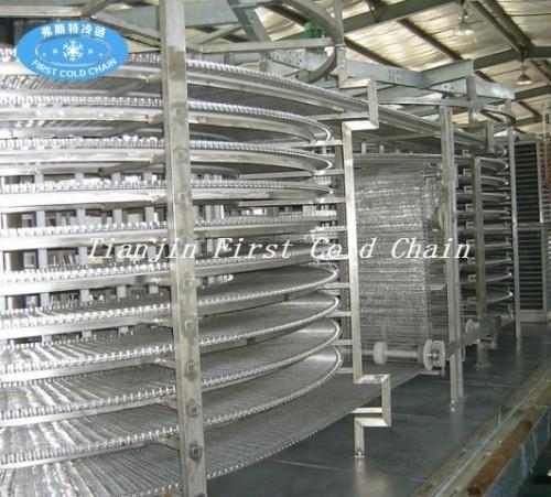 China reputación de calidad confiable sofisticado espiral espiral rápida para carne o pescado