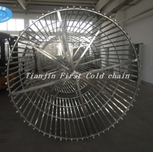 China first cold chain competitive 2000kg/h Spiral Freezer for Fish Freezing