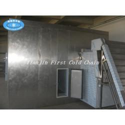 China high quality  Fluidization quick freezer/ Fluidized IQF freezer machine for fruits.