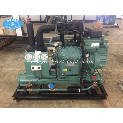 Unidad de compresor para sistema de refrigeración por congelación rápida / cámara frigorífica