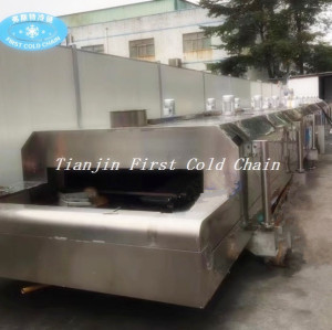 Congélateur rapide pour la machine de congélateur d'azote liquide de Falafel de Burger Patty Samosa