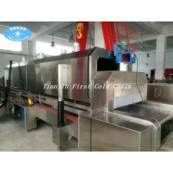 Seafood/shrimp low temperature 3000kg/h Liquid Nitrogen Tunnel Freezer