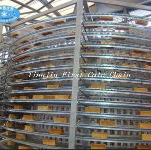 Tour de refroidissement en spirale de haute qualité en Chine / utilisation du convoyeur pour pain / pain grillé