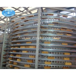 Spiral cooling tower from China high quality /conveyor use for Bread/Toast