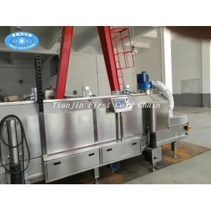 Low temperature -196 ℃ liquid nitrogen Tunnel freezer/falsh freezer for seafood