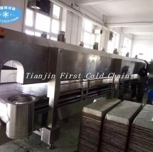 Machine de congélation rapide de viande d'iqf de tunnel de congélateur d'azote liquide de qualité