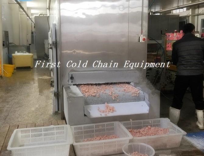 tunnel freezer for shrimp