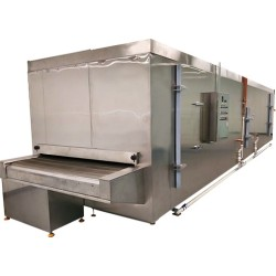 China 150kg/h Tunnel Freezer with stainless steel belt for ice cream,meat ,seafood