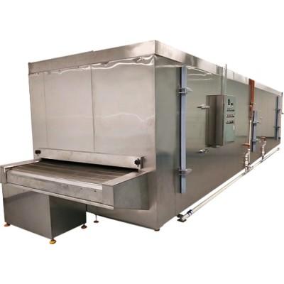 China 150 kg / h Congelador de túnel con cinturón de acero inoxidable para helado, carne, mariscos