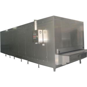 China Congelador de túnel de 600kg / h finamente procesado con acero inoxidable lleno para camarones