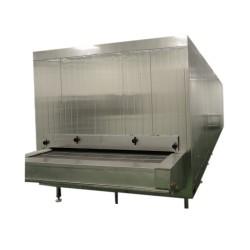 China congelador de túnel de 500kg / h de alta calidad para la venta caliente América con la unidad del compresor de frascold de Italia
