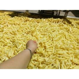 Patatas fritas congeladas Patatas fritas que hacen la línea de producción de la máquina