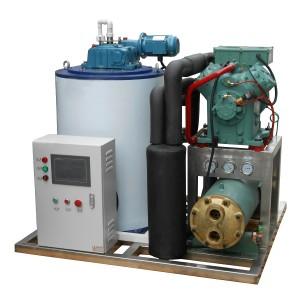 Máquina de hielo en escamas de 3T / 24 energéticamente eficientes para el procesamiento de productos del mar.