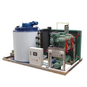 Горячие продажи чешуйчатый льдогенератор полная нержавеющая сталь 8T / 24H для морского рыболовного транспорта
