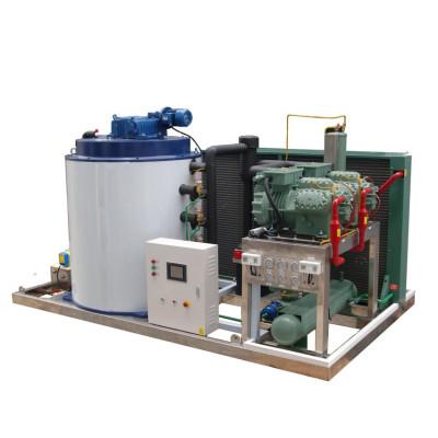 Ventas calientes máquina de hielo en escamas completo acero inoxidable 8T / 24H para transporte de pesca en el océano