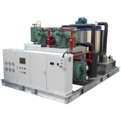 Máquina fabricadora de hielo en escamas para procesado de mariscos 10T / 24h.