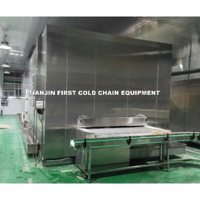 Congelador de túnel de impacto IQF / Máquina de congelación rápida / Congelador de túnel de correa de impacto automática