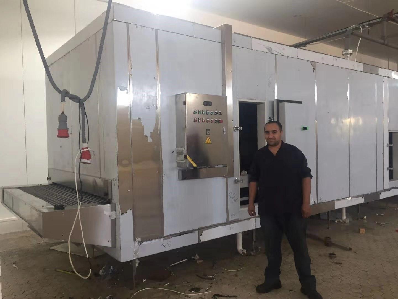 tunnel freezer in Jordan
