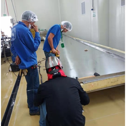 First cold chain engineers in Colombia successfully installed 200kg/H tunnel freezer