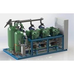 China 3-50HP Bitzer Brand Semi-Hermetic Compressor unit for Refrigeration