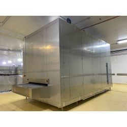 Industrial continuous Impingement tunnel freezer for sea food freezing