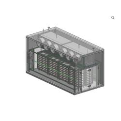 High effective Blast freezer 200kg/h install convenient