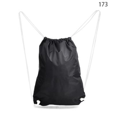 2016 Wholesale Black Promotional Cheap Drawstring Bag Backpack