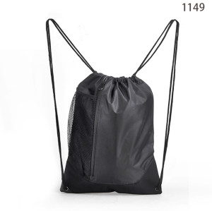 Eco-Friendly Mesh Pocket Drawstring Gym Backpack Bag
