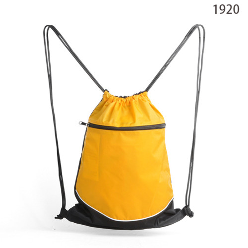 Eco-Friendly Mesh Pocket Drawstring Gym Backpack Bag