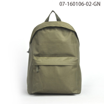 Custom Made Fashionable Green Waterproof Backpack Bag