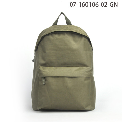 Custom Made Fashionable Green Waterproof Backpack Bag