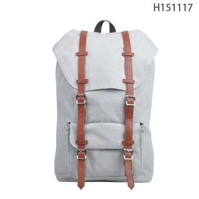 Best Selling Beige Korean Style Girls Wholesale Canvas Backpack