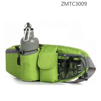 Nylon Outdoor Running Sport Waist Bag with bottle Pocket