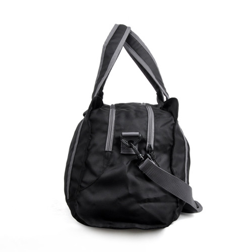 Black Travel Time Bag, Waterproof Travel Bag Men Hand Lightweight Bag