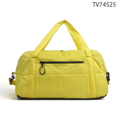 Simple Design Nylon Yellow Travel Tote Sports Duffel Bag